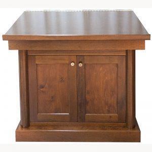 Mahogany torah table with classical bimah