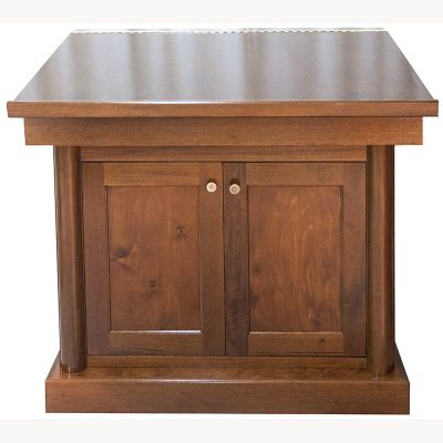 Mahogany torah table with classical bimah