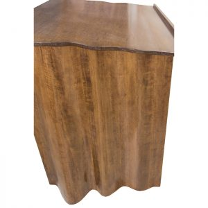 Torah Reading Table Carved from solid wood hangs like a drape