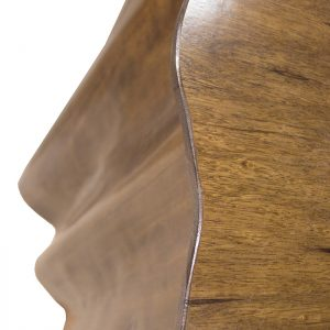 Solid wood curved shape for table sides and top