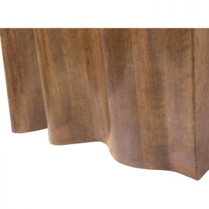 Curtain carved from solid wood