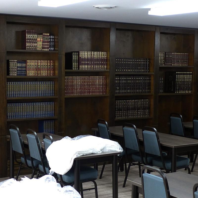 library bookshelves for synagogue in toronto - Custom Wood Bookshelves For Bet Midrash Bass Synagogue Furniture