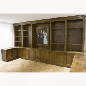 Wood carpentry book shelves custom made in Israel