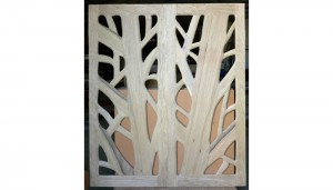 Framework for glass and wood tree