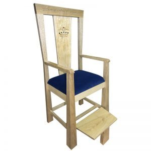 elijah's chair for brit milah in contemporary design with upholstery and carving golden oak solid wood