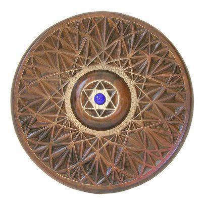 Dreidle board for spinning dreidles on hannukah