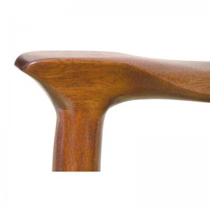 Detail of chair joinery in contemporary crafts style solid wood joinery