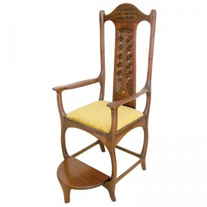 Contemporary Elijah's Chair Kise Eliyahu built from solid wood with craftmen's detail to joinery and detail