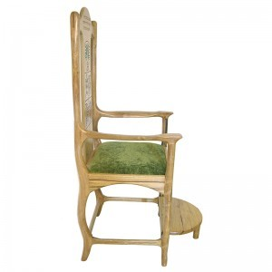 Seven Species carved and painted elijah's chair profile of solid wood