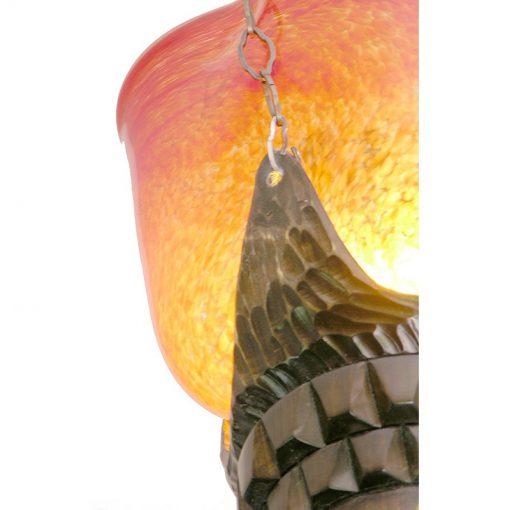 Eternal light custom made for the Ababyuda in Uganda with solar powered lighting blown glass detail
