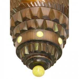 Eternal light custom made for the Ababyuda in Uganda with solar powered lighting wood carving and glass inlays