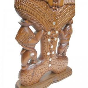 details of hand carved menorah