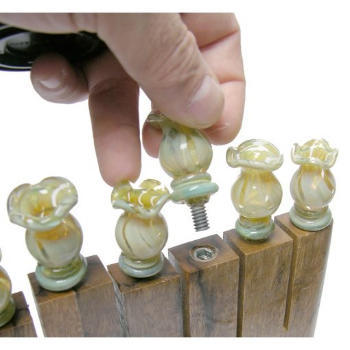 removeable candle holders for menorah