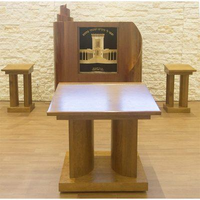 synagogue design and production by furniture makers in Israel for uptown chabad