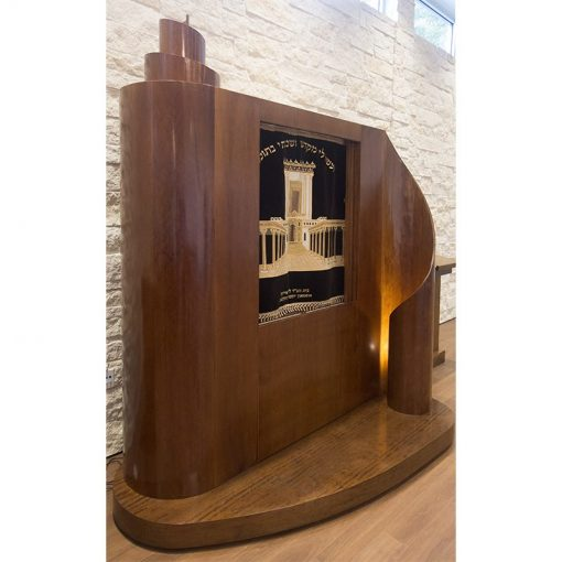 aron kodesh at an angle the aron kodesh for the chabad of uptown with LEd lighting and parochet