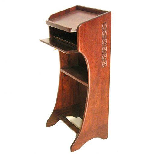 Solid wood podium custom built for SAR academy