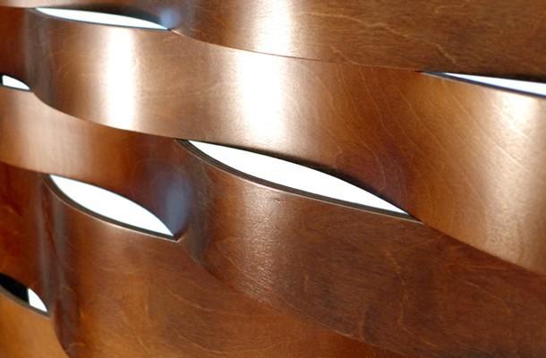 Wave Mechitza Bent Wood