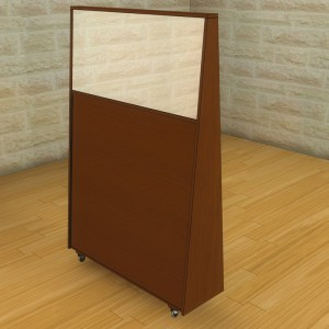 portable mechitza with tapered wood sides profile