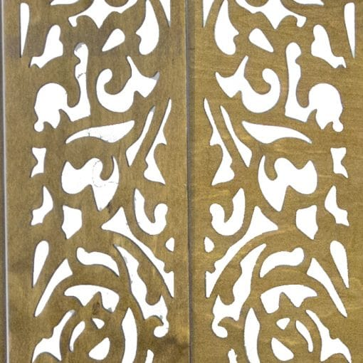 Wood Laser cut lattice design for mechitza top material