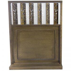 wood mechitza with laser cut lattice decorative elements for synagogue in Philadelphia