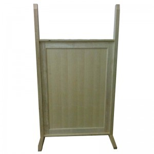 Standard wood portable mechitza panels in progress
