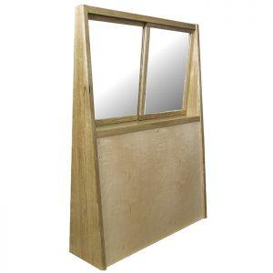 Mechitzah with sliding windows in glass and wood