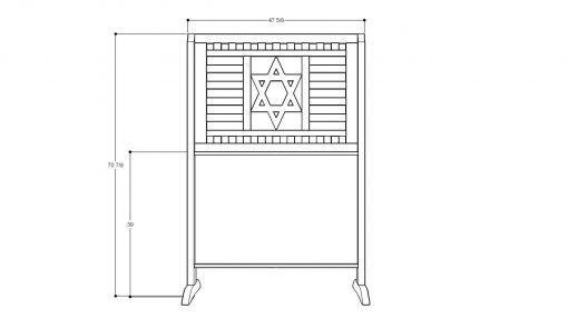 the measurements and layout for wood portable mechitza