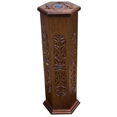 Carved wooden megillah ester case