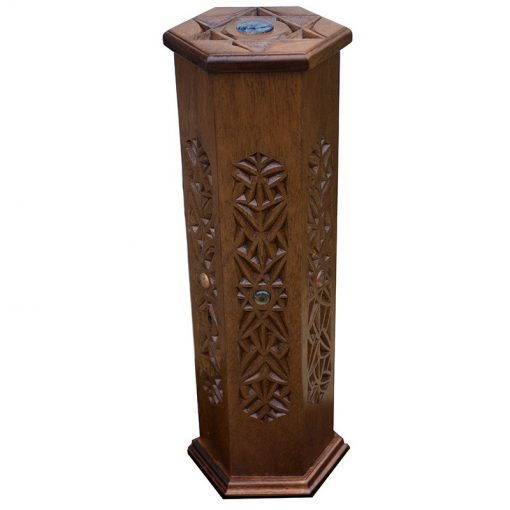 Carved wooden megillah ester case