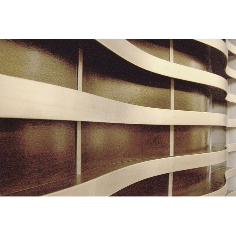 Synagogue Memorial Board aluminium and wood detail