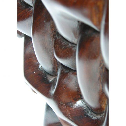 braided wood menorah for Hannukah