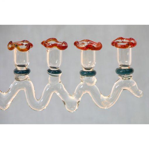flame wroked glass menorah