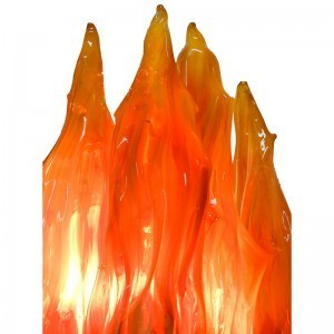ner tamid flames from borosilicate blown glass