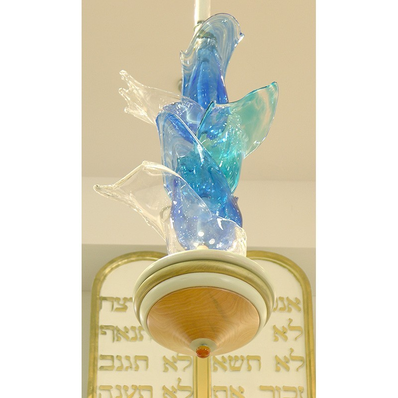 Bet Shemesh glass blown Ner Tamid