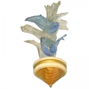nesting vessels glass blown Ner Tamid