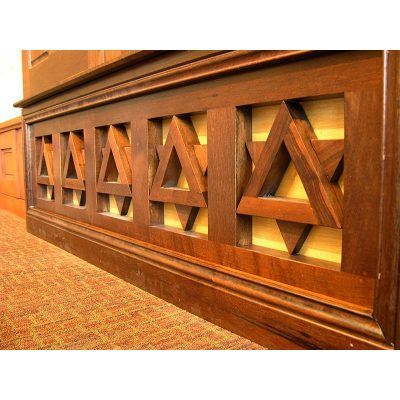 Bet Israel Synagogue in New Orleans wood ark detail