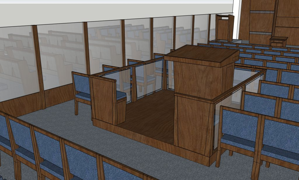 design for or torah wheelchair accessiblebimah stage