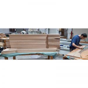 in progress synagogue furniture mechitza fabrication