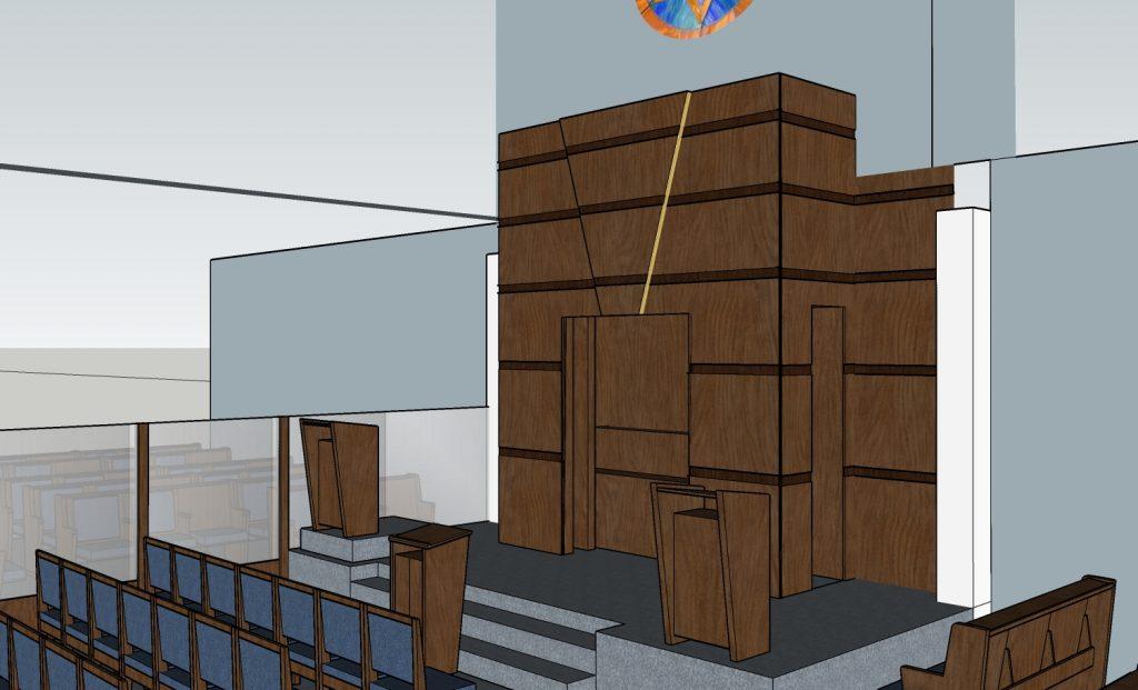 aron kodesh synagogue interior design