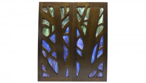 Glass and wood Doors Stained Glass