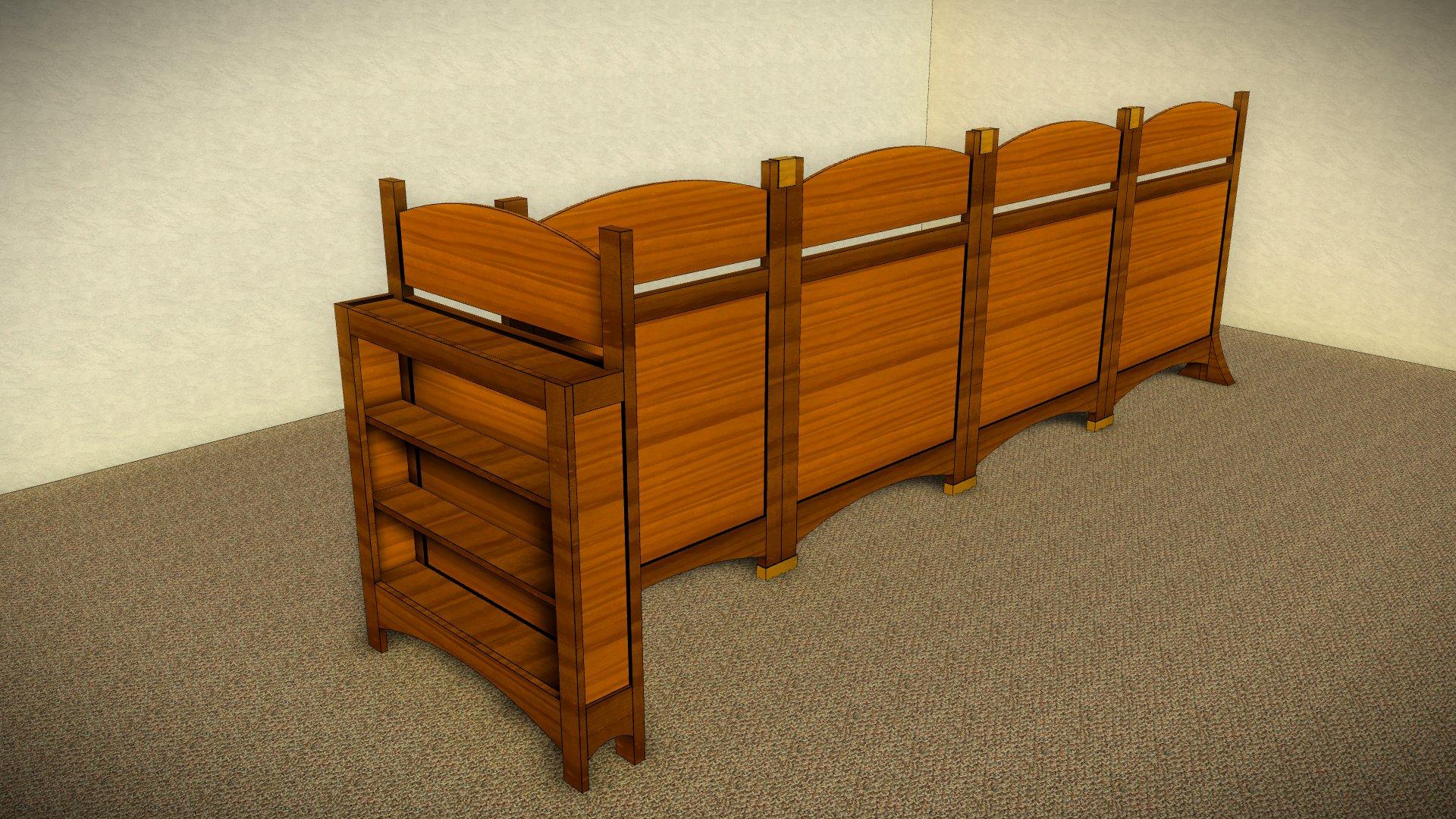 mechitza design with wood panels