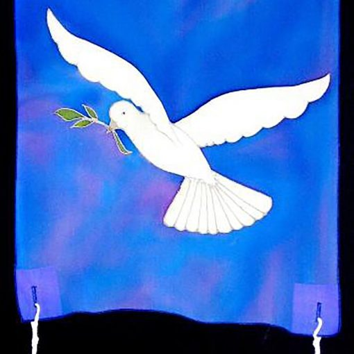 dove peace torah curtain
