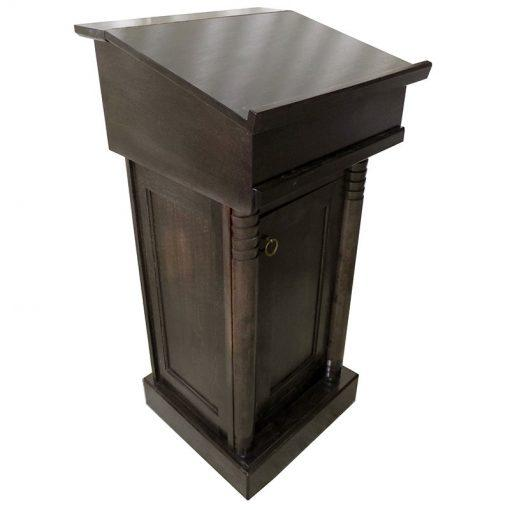 Wood Rabbi Podium with storage space in standing prayer position