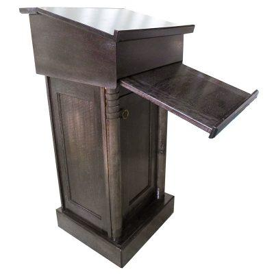 Wood Rabbi Podium with pull out table for sitting position