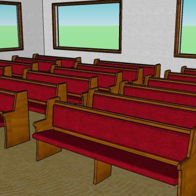 synagogue seating benches