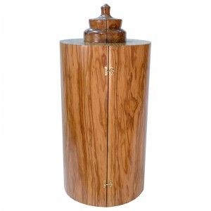 Olive wood sephardic torah case
