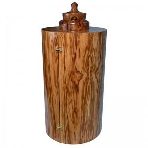 Olive wood sephardic torah case made in Israel