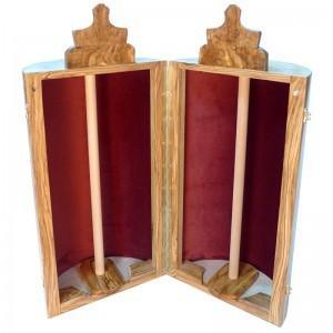upholstery of Olive wood sephardic torah case