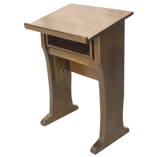 Adjustable Height Shtender front with drawer