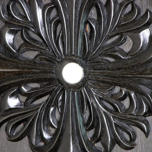 detail carving and inlay of shtender with ebony finish